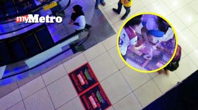 Ibu Shopping Anak Jatuh Eskalator Lagi