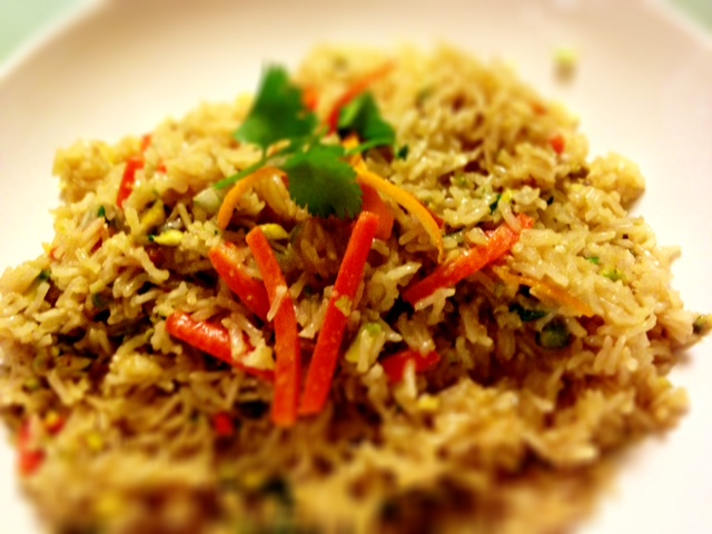 Pistachio & Orange Basmati Rice Pilaf - Totally Tasty.....