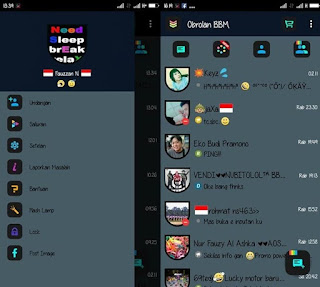 BBM New FlatLight v3 Version v2.9.0.51 Apk + Post Image to FB