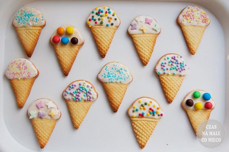 ciasteczka waniliowe lody