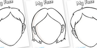 Blank Face Template Printable