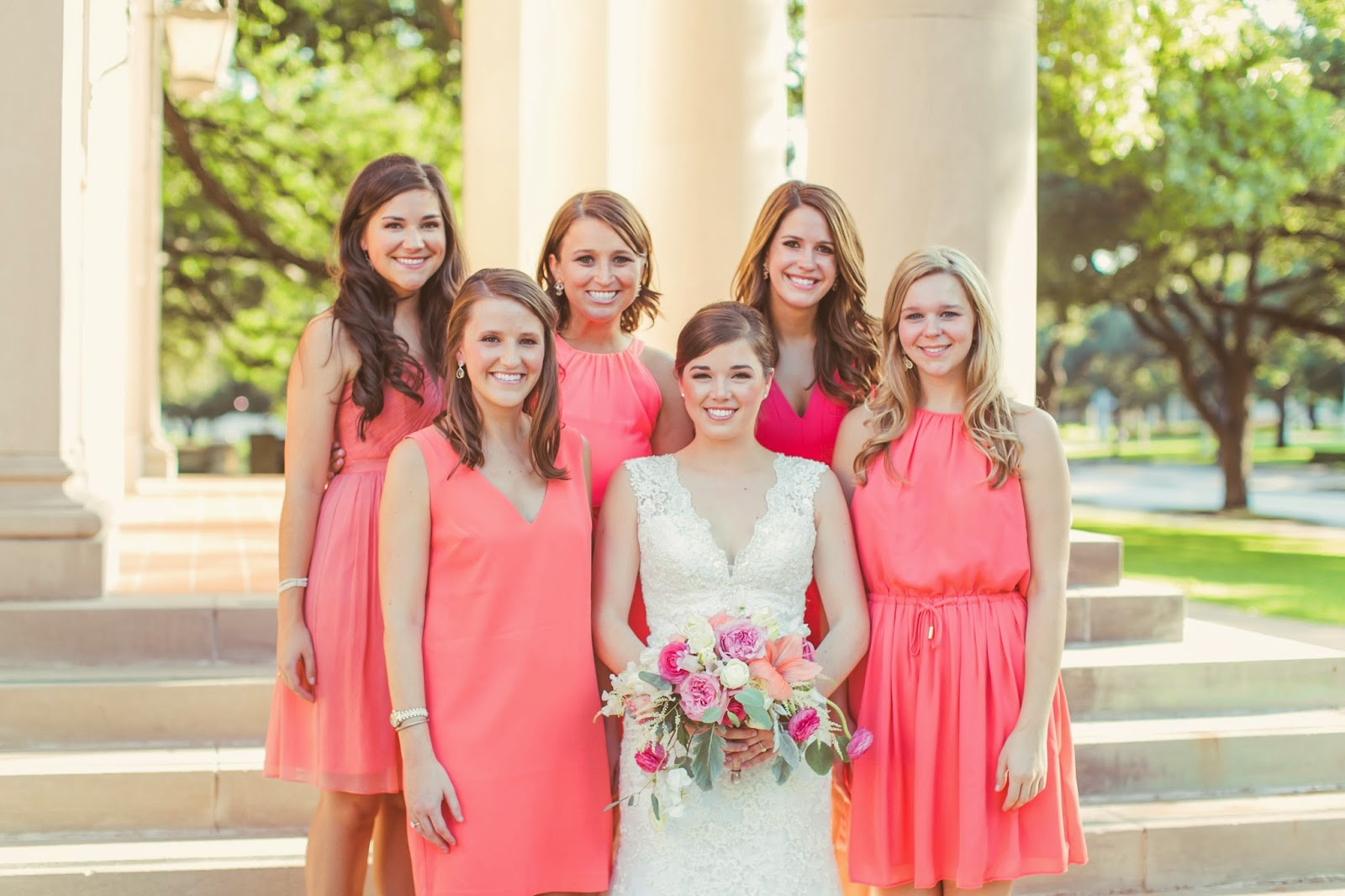 The Blooming Bride, DFW, Fort Worth, Texas, Wedding Flowers, Bouquet, Brides The Blooming Bride, DFW, Fort Worth, Texas, Wedding Flowers, Bouquet, Bridesmaids, Coral, Pink