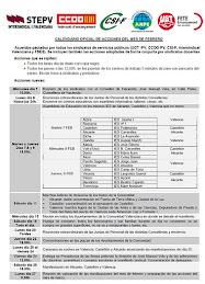 CALENDARIO DE MOVILIZACIONES FEBRERO