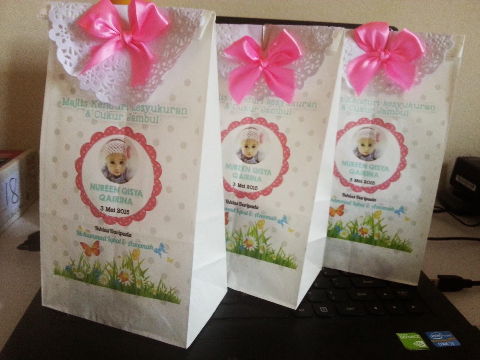 printed paper bag cukur jambul