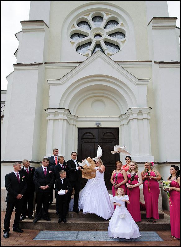 balti balanžiai per vestuves
