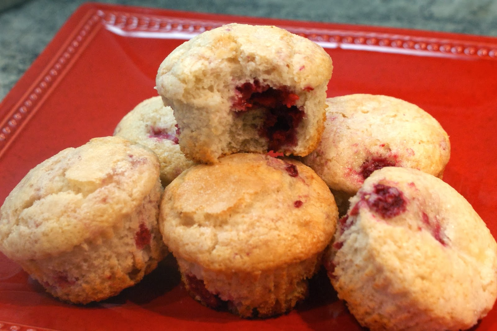 The Baker's Mann: Raspberry Lemon Muffins