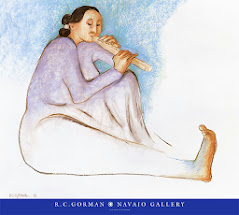 A Navajo Lady Playing Flute: <br>by R. C. Gorman (2001)