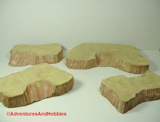 Desert terrain pieces for miniature war games - group 2.