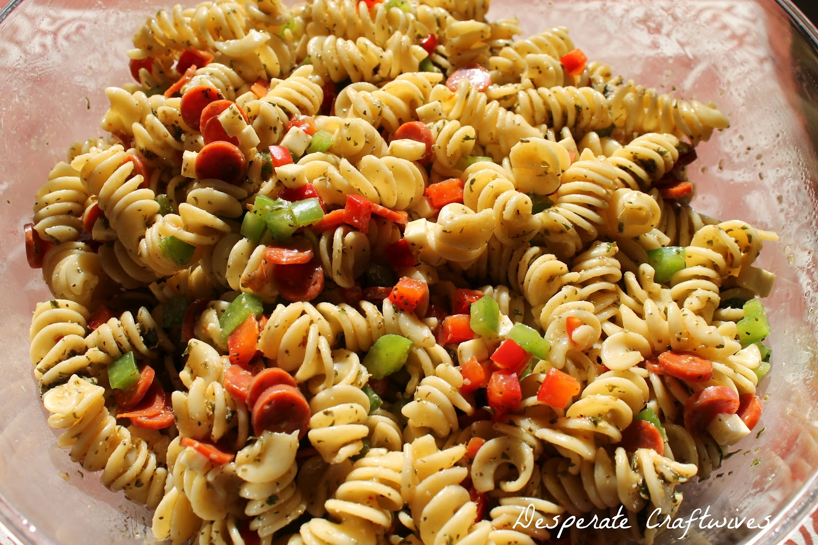 Desperate Craftwives: Zesty Italian Pasta Salad