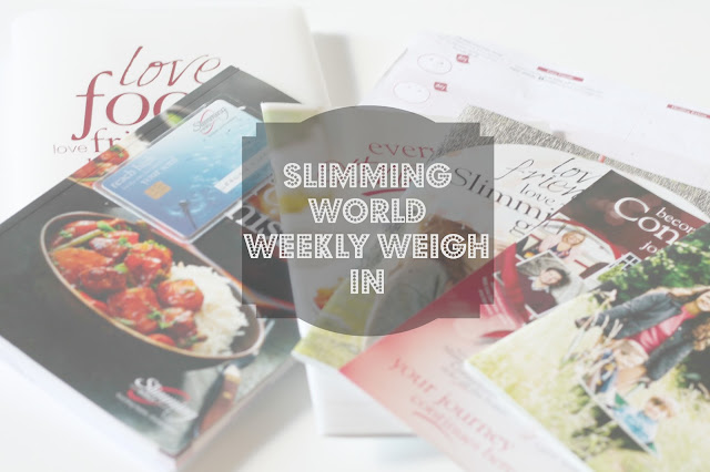 slimming world weekly weigh in & food diary blog header photo