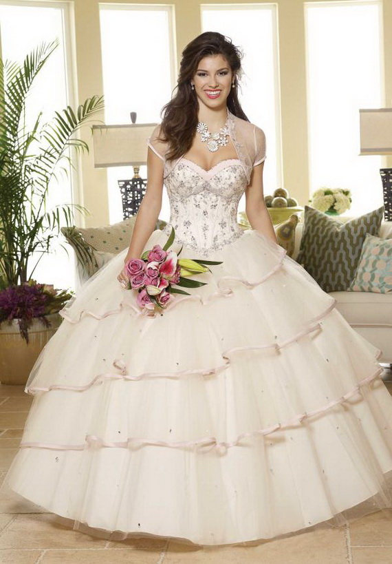 strapless sweetheart white ball gown prom dress with jacket