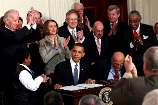 Obama Care 911 Affordabla Health Care Act- President Obama Signing The Health Care Act Into Law