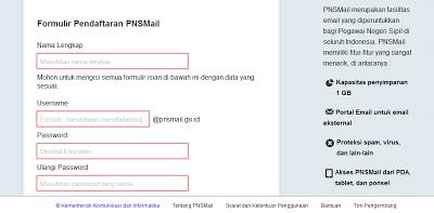Cara Membuat Email Khusus PNS di PNSMail