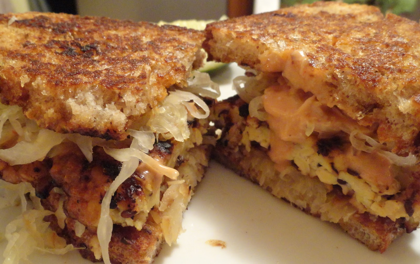 "Tempeh Reuben Sandwiches | The ""V"" Word"
