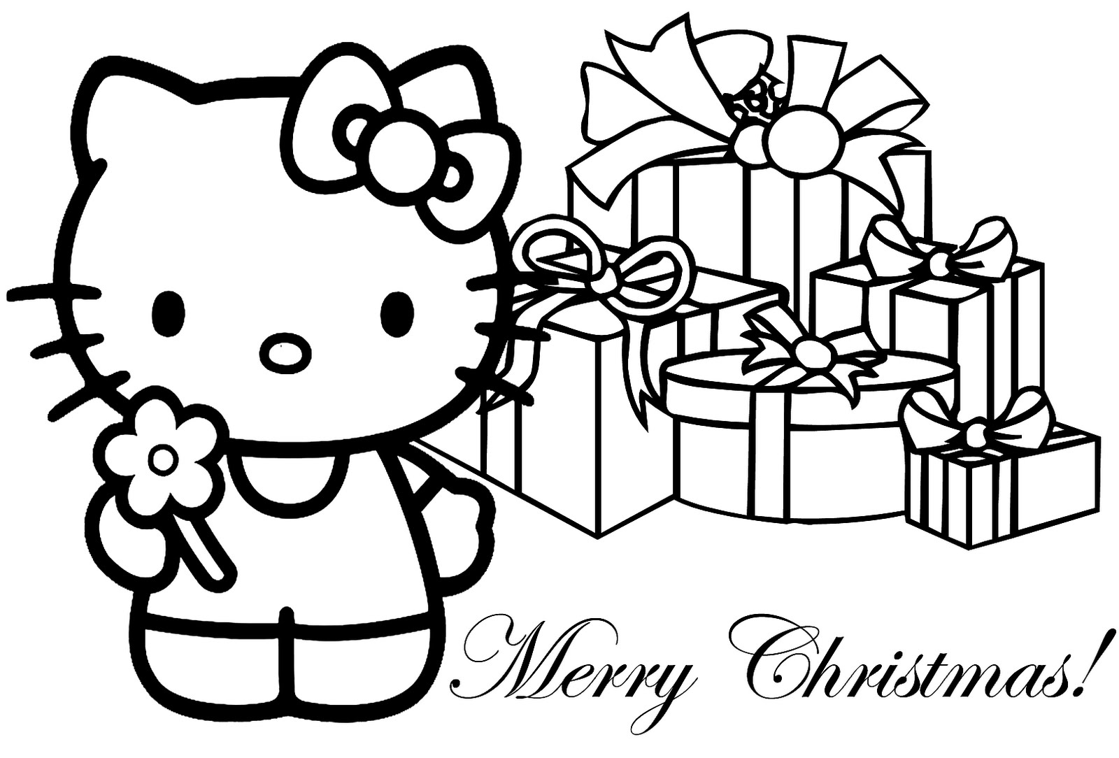 Hello kitty christmas coloring sheets for Christmas coloring in pages
