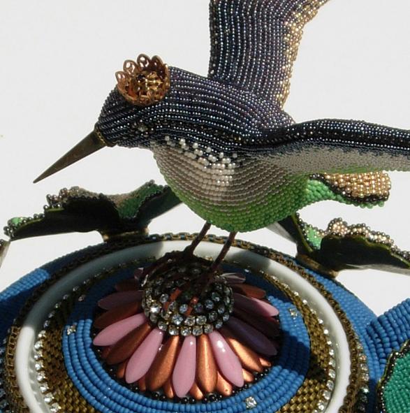koralikowy ptak
