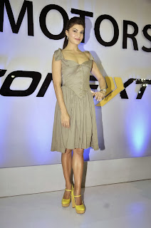 Actress Jacqueline Fernandez Pictures in Short Dress at Autocar Performance Show 2013  0009
