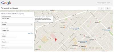 Procedimiento para dar de alta tu taller en Google Place