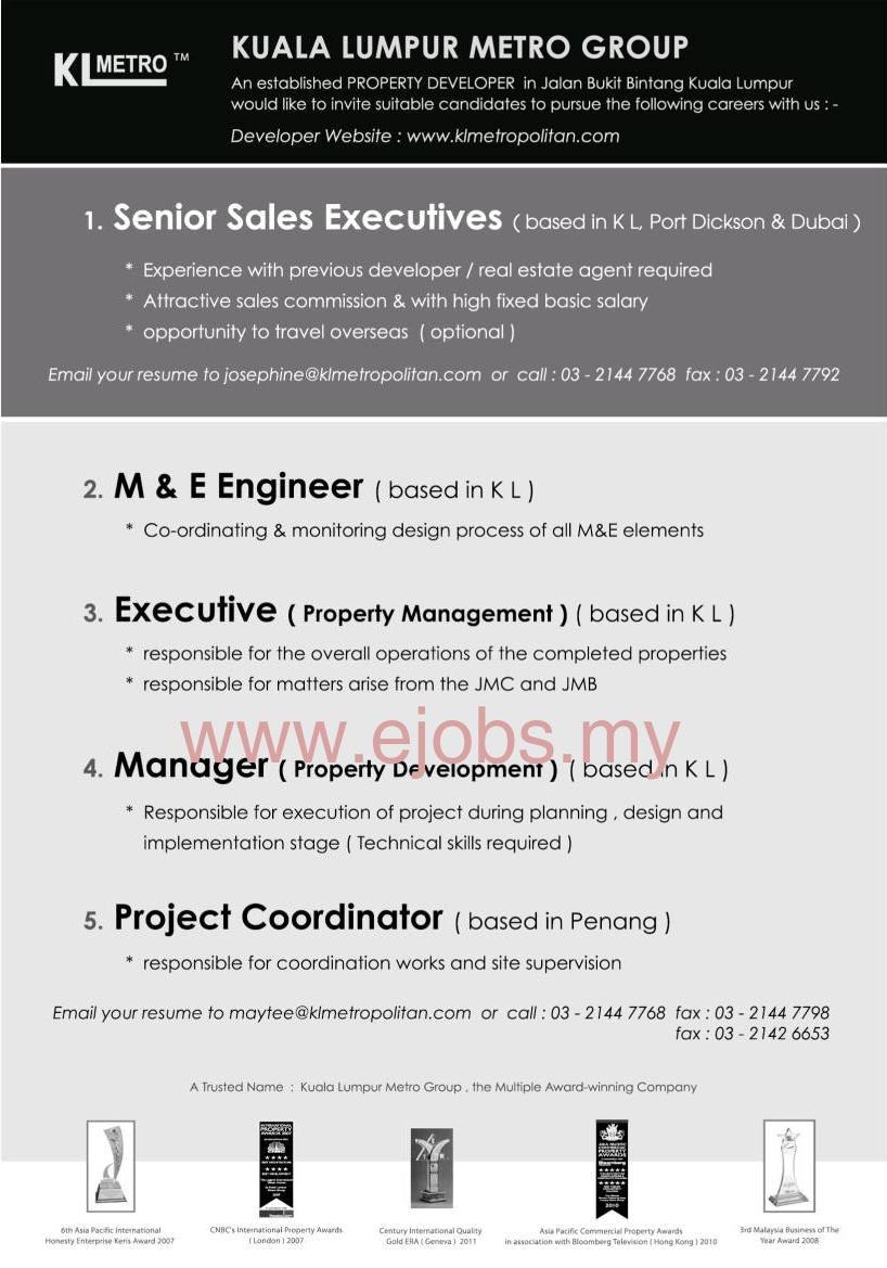Jobs Vacancy Career at Kuala Lumpur Metro Group | Jawatan Kerja ...