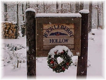 Merry Christmas from Huckleberry Hollow, Virginia.