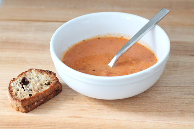 quick, easy & creamy tomato soup with from a can ease, but from scratch flavor paired with a bacon jam & gruyere grilled cheese