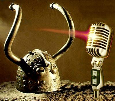 Horn-helmet with microphone