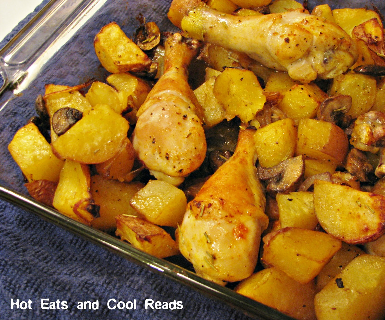 Cool Reads: Rosemary Baked Chicken with Potatoes and Mushrooms Recipe ...