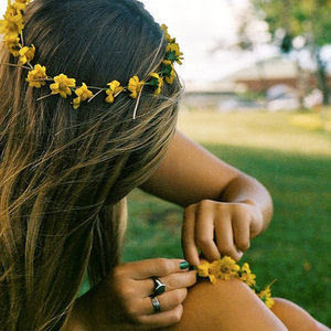 how to make a real flower headband