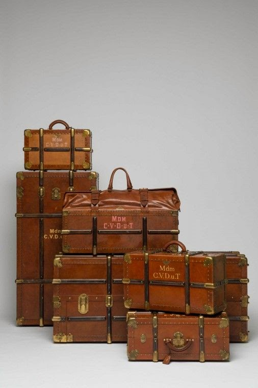 custom Prada luggage from the Grand Budapest Hotel on thewellset.com