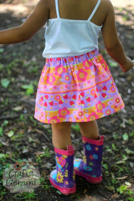 easy skirt for little girls tutorial