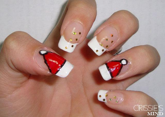 Santa Hat Nails