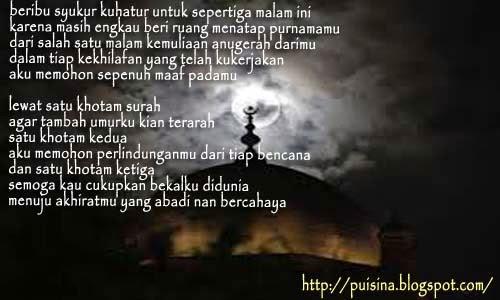 Puisi Do'a Malam Nisfu Sya'ban