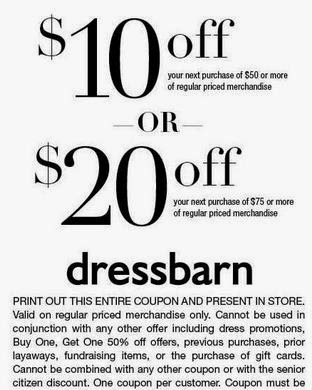 Dress Barn Coupons Printable