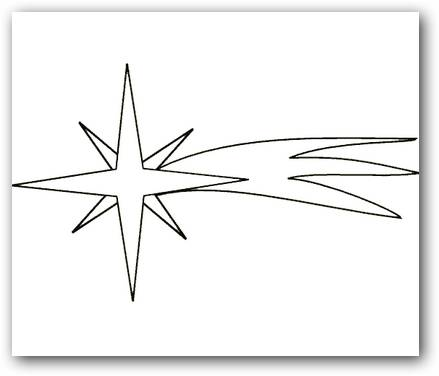 Dibujos para colorear estrella fugaz | Dibujos para Colorear