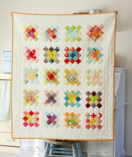 Blue Elephant Stitches Granny Square Quilt Block Tutorial