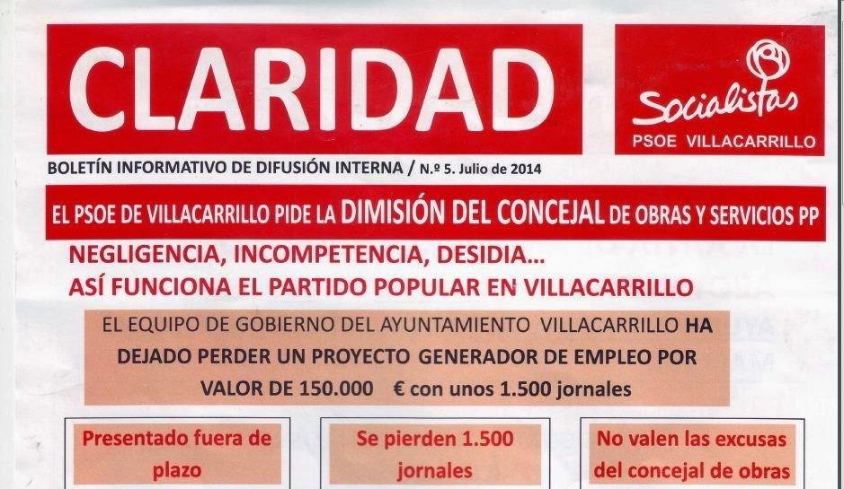 "Último Boletín ""Claridad"""