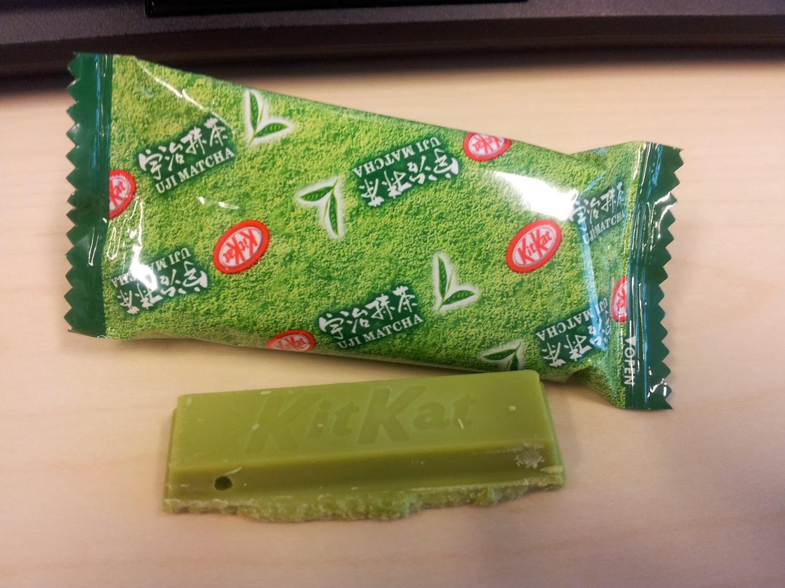 grønne is med chokolade