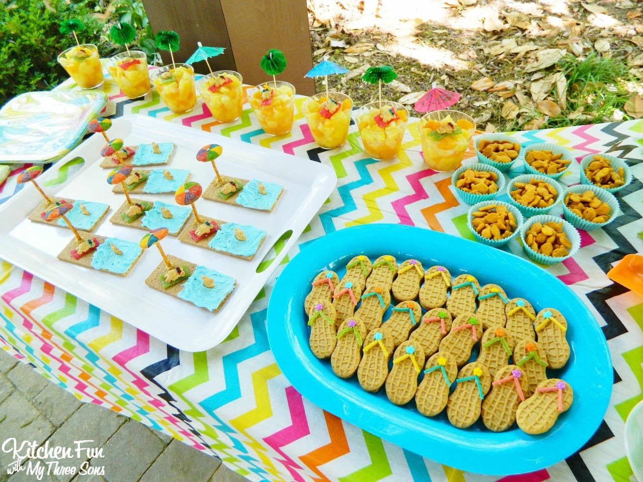 Beach Party Food Ideas Teddy Bear Treats Snacks