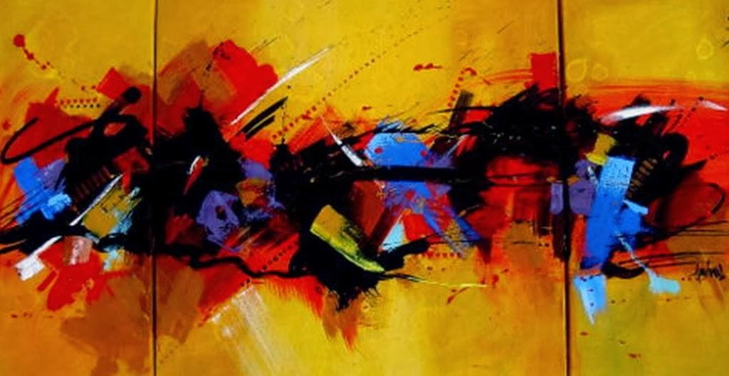Pintura moderna y fotograf a art stica coloridos modernos cuadros abstractos pintura al leo for Imagenes de cuadros abstractos tripticos