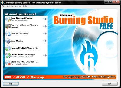 تحميل برنامج نسخ الاسطوانات وحرقها Ashampoo Burning Studio 6 مجانا