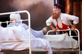 James Garnon as Harold Gillies in Dr Scroggy's War - Globe Theatre - photo Mark Douet