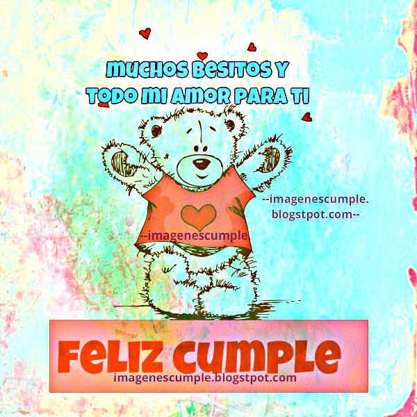 Bonita Tarjeta de Cumple para niños, bebés, mujer, chica, joven, hija. Imagen de cumpleaños, cumple mes gratis.