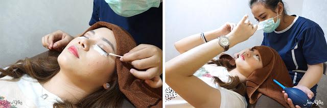 eyelash extension, process, salon, tokyo belle, experience