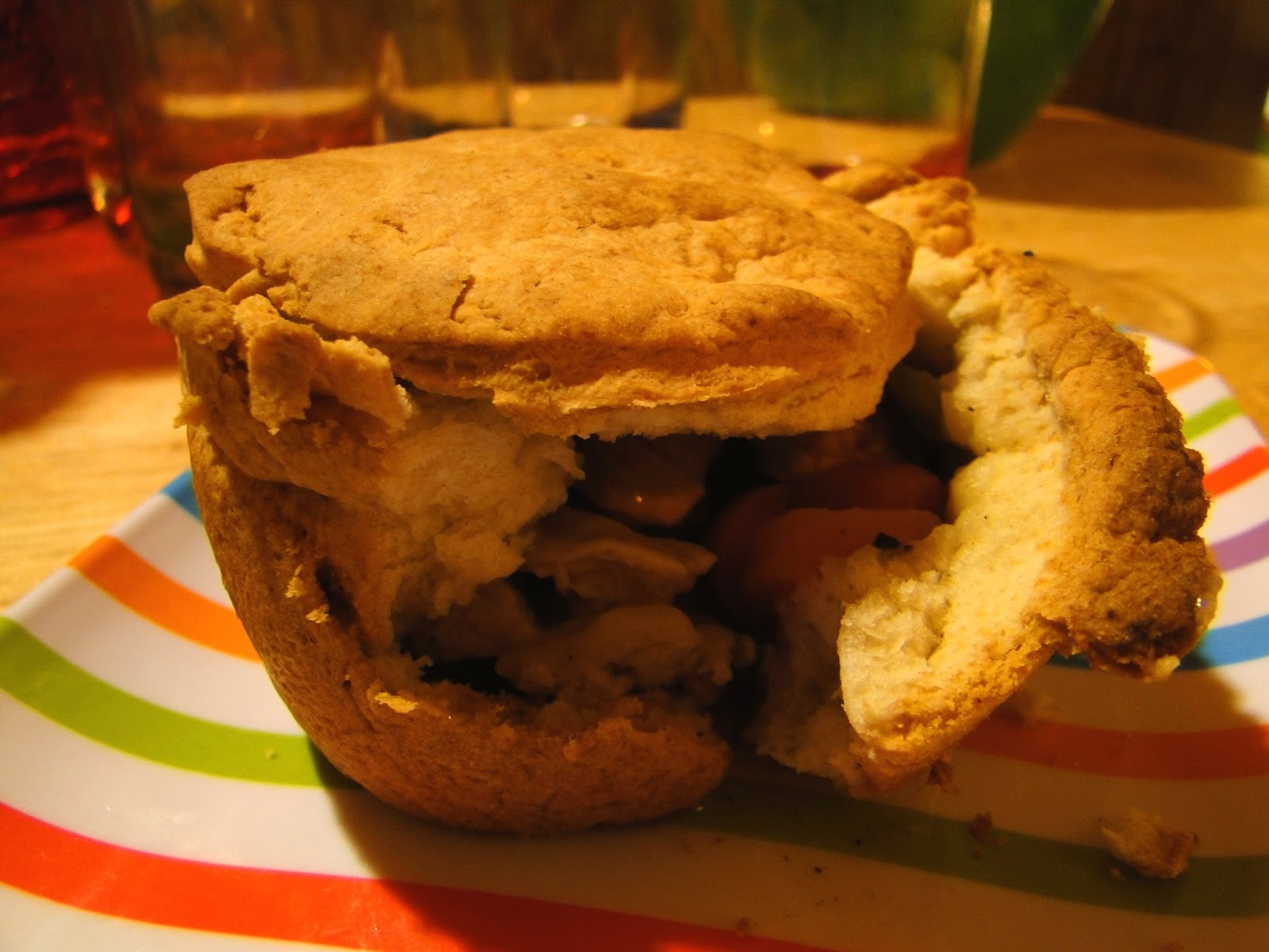 Mistress of my Domain: Easy Homemade Bisquick Chicken Pot Pies