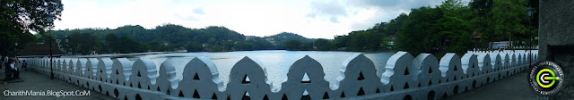The Kandy Lake and Cloud wall