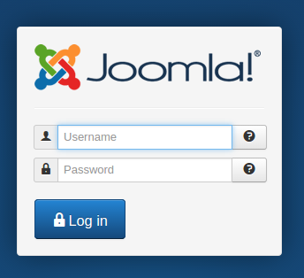 joomla login form