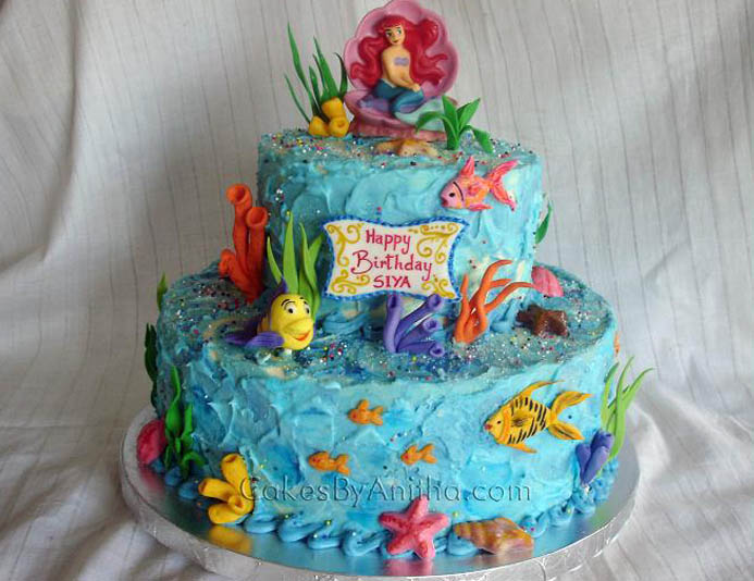 Mermaid rosary disney 39 s little ariel for Ariel cake decoration