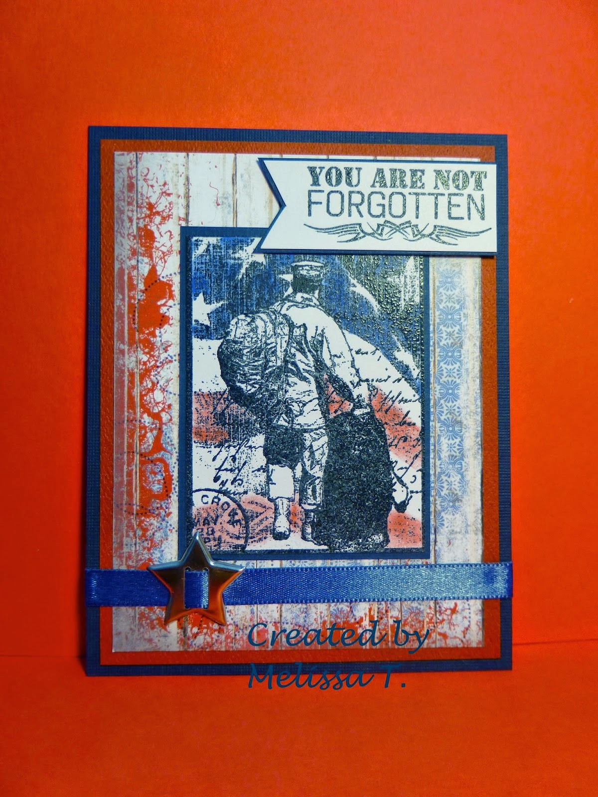 ODBD Not Forgotten, ODBD Patriotic Paper Collection, ODBD Customer Card of the Day by Melissa Teeling