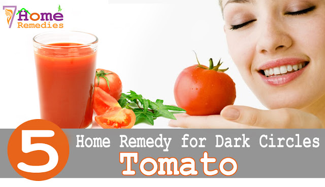Raw tomato to clear dark circles