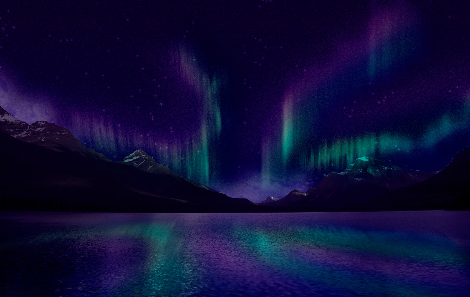 purple aurora borealis wallpapers x - photo #14